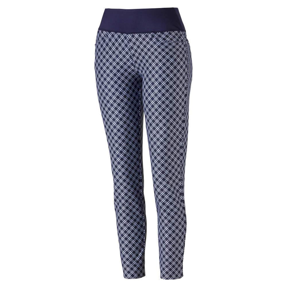 Puma Golf Women's 2019 Pwrshape Checker Pant, Peacoat, Medium by PUMA