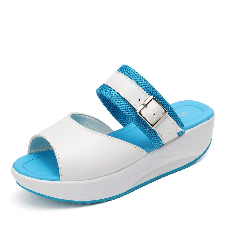 Sandali casual blu per donna Qzbaoshu vmukUkb