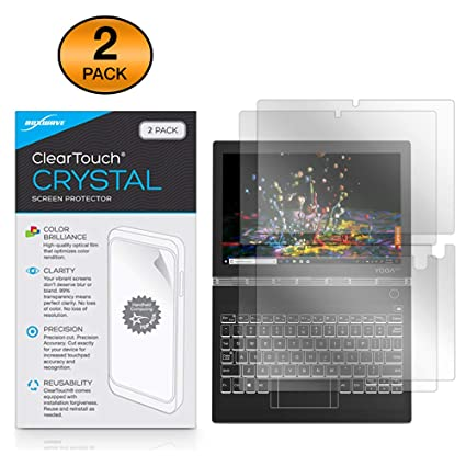 Lenovo Yoga Book C930 Screen Protector, BoxWave [ClearTouch Crystal (2-Pack)] HD Film Skin - Shields from Scratches for Lenovo Yoga Book C930