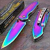 Tac-force Rainbow Spectrum Titanium Folding Pocket Knife