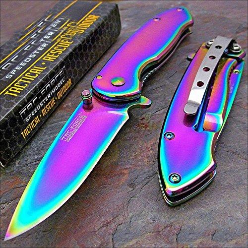 Tac force Rainbow Spectrum Titanium Folding