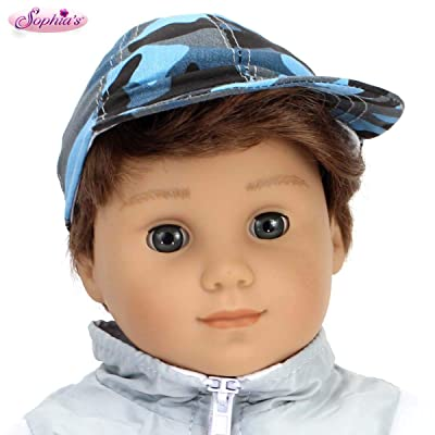 Sophia's Blue Camouflage Baseball Cap for Dolls | Blue Hat for 18 inch Boy Dolls: Toys & Games