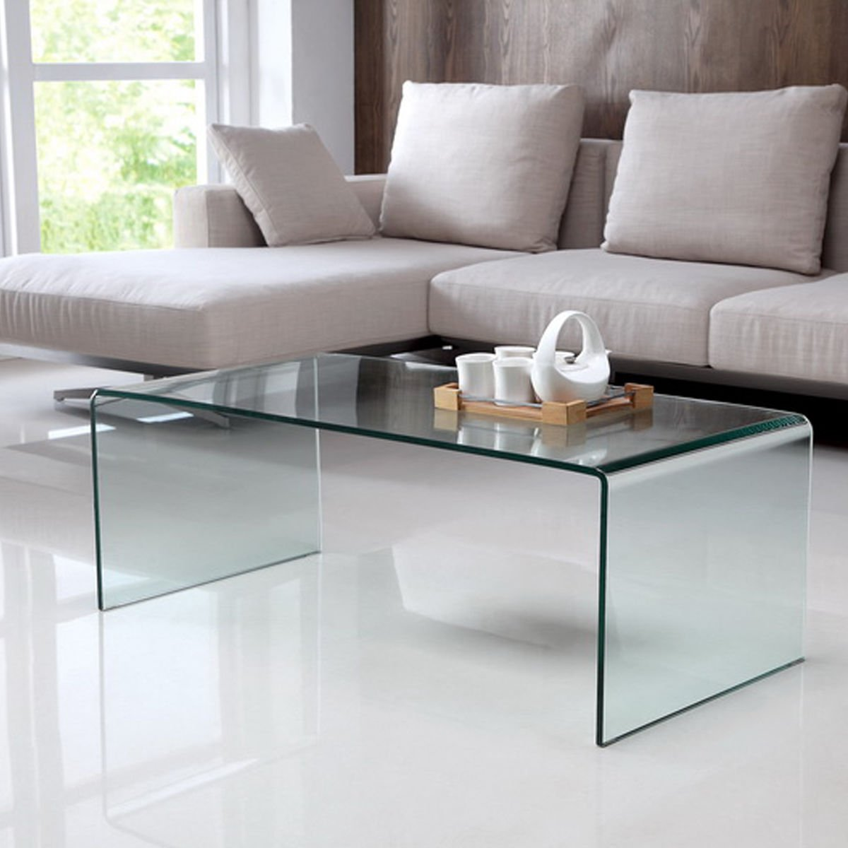 Amazon.com: Tangkula Coffee Table Tempered Glass Rectangle Cocktail Table Living  Room Furniture: Kitchen U0026 Dining