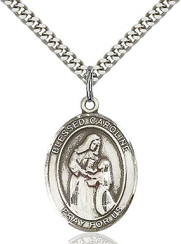 Sterling Silver Blessed Caroline Gerhardinger Medal Pendant 1 Inch