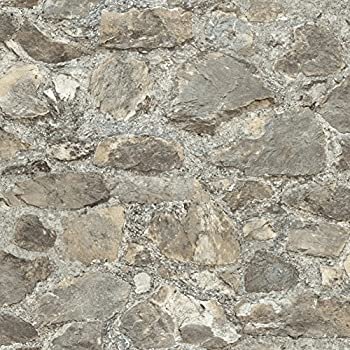 RoomMates RMK9096WP Weathered Stone Peel And Stick Wallpaper Décor