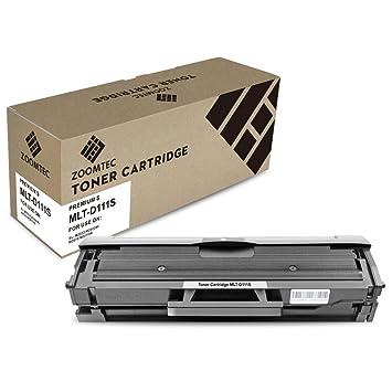 ZOOMTEC 1PK MLT-D111S Cartucho de tóner Compatible para Samsung ...