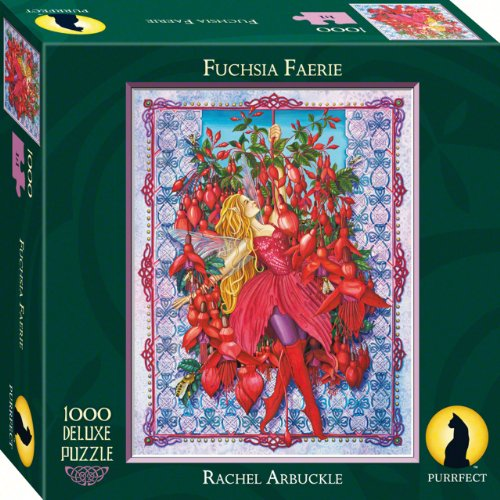 Purrfect Puzzles Fuchsia Faerie 1000 Piece - Village Legends West The