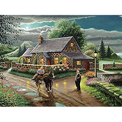 Ceaco Coming Home - Lakeside Cottage Puzzle (750 Piece): Toys & Games