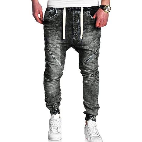Mumustar - Pantalones Vaqueros elásticos para Hombre, Pantalones ...