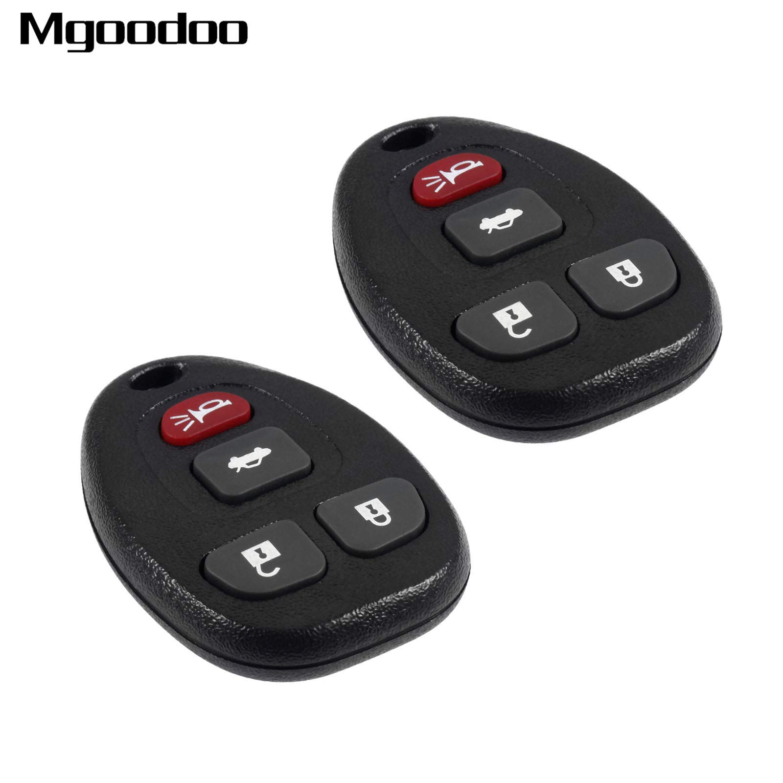 Daphot-Store - 2Pcs 4 Buttons Remote Car Key Fob Shell Case 315Mhz For Chevrolet Malibu Cobalt Buick Allure LaCrosse KOBGT04A Replacement Parts