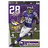 NFL Minnesota Vikings Adrian Peterson Decal, 11 x 17-Inch, Multi