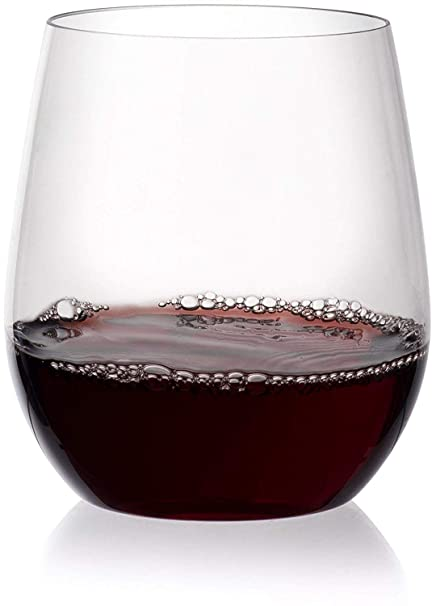 e5fb1700f292 Circleware 44585 Huge Entertainment Set of 10 Stemless Wine Glasses Drinking  Glassware