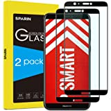 SPARIN [2 Pack Compatible for Huawei P Smart Screen Protector, Tempered Glass [Edge to Edge] [Full Coverage] [Bubble Free] Screen Protector for Huawei P Smart