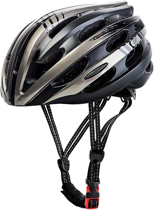 John-L Casco Bicicleta, Casco De Bicicleta Ajustable con Luz De ...