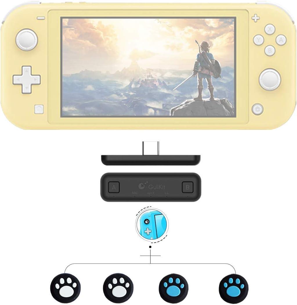GULIkit Adaptador Bluetooth para el transmisor de Audio inalámbrico airpods Nintendo Nintendo Interruptor/Switch Lite ps4 pc - Negro