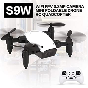 S9W WiFi FPV 0.3MP Cámara Mini Drone Plegable Atitude Hold Modo RC ...