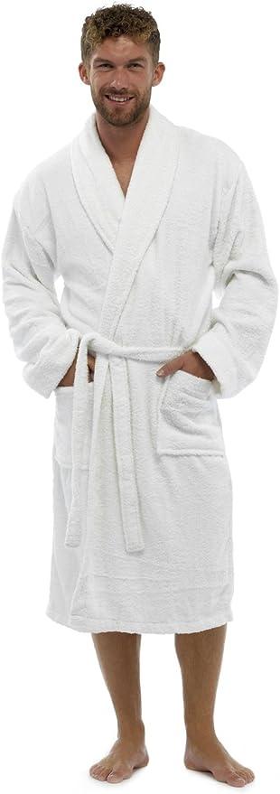 Graphic Impact Ltd Unisex Bathrobe Towelling Super Soft Bath Wrap Housecoat Spa Gym Shawl 100/% Egyptian Cotton Terry Plain Bathrobe