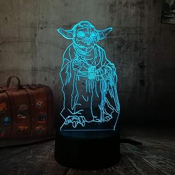 Novedad Nuevo Master Yoda 3D LED Lámpara de mesa de escritorio con ...