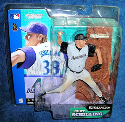 Mcfarlane Mlb 3 Figure - Mcfarlane Arizona Diamondbacks Curt Schilling Series 3 Figure GREY JERSEY VARIANT