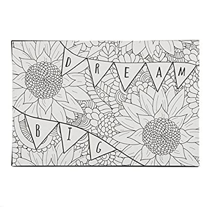 DCI Color Joy Dream Big Art Block, Coloring Products, DIY Crafts, Flowers  Pattern, Ready to Display on Wall or Shelf, 4\