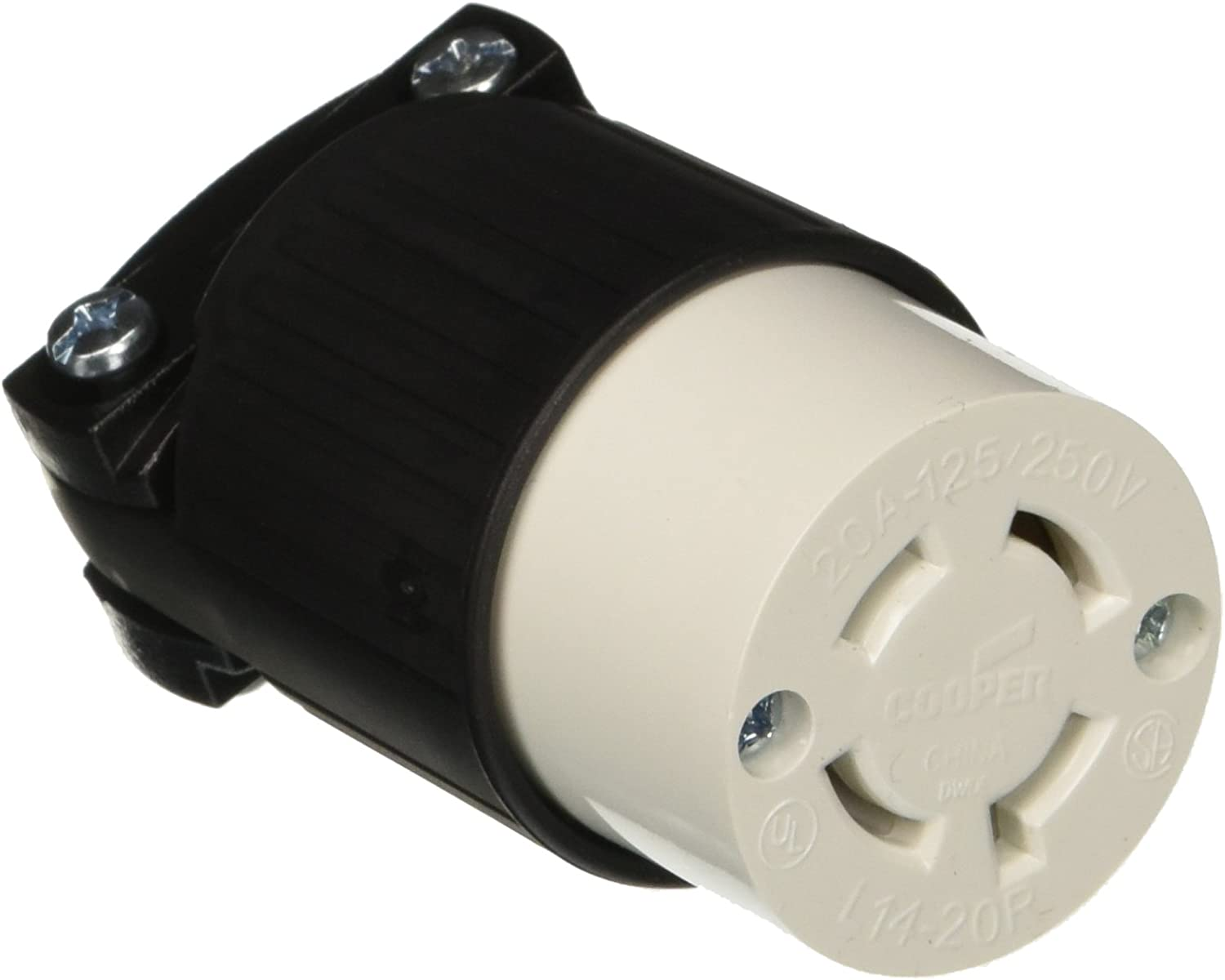 Cooper Wiring Devices   Locking Plug    3 Pole 4 Wire Grounding  L1420P-L