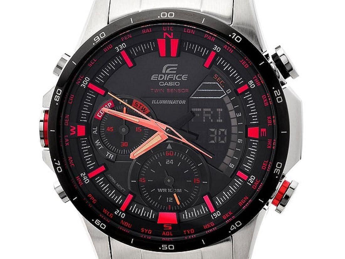 Amazon.com: Casio ERA-300DB-1AVER Mens Edifice Black Silver Combi Watch: Watches