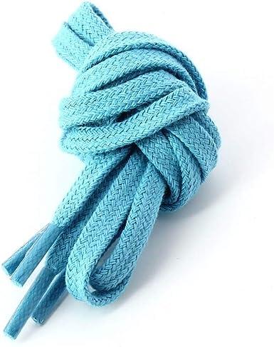 Les lacets Français – Cordones planos de algodón, color azul ...