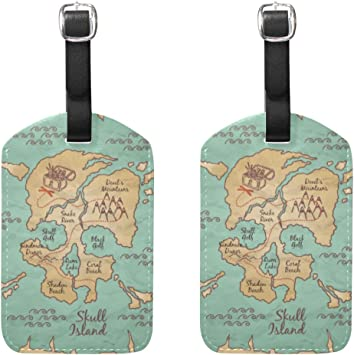 Skull Mountain Luggage Tag Label Travel Bag Label With Privacy Cover Luggage Tag Leather Personalized Suitcase Tag Travel Accessories