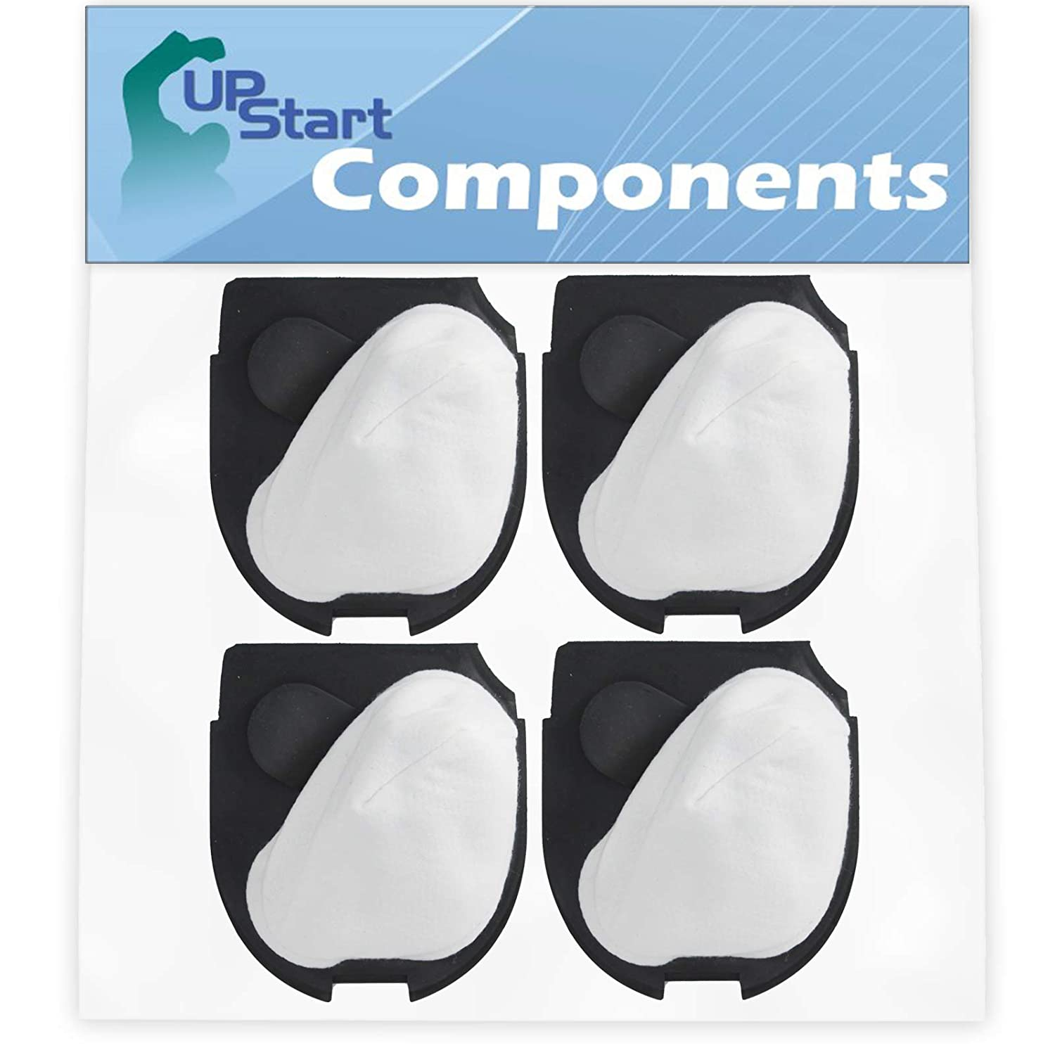 4-Pack DCF-11 Filter Replacement for Eureka Quick UP 71B, 71, 41A, 70A, 71A, 71AV & Eureka 39657, Eureka DCF 11 Vacuum Cleaners - Compatible with Eureka DCF-11 62558A Filter