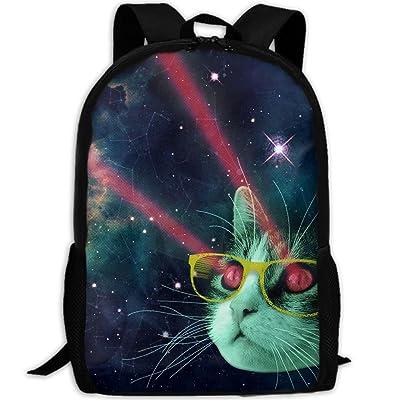 Space Cat Unisex Backpack Lightweight Laptop Bags Shoulder Bag School Bookbag Daypacks