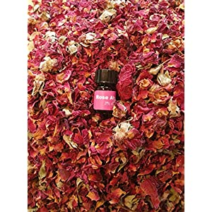 bMAKER Dried Rose Buds& Petals Red 1 Lb Food Grade Edible | Best for Tea, Baking, Making Rose Water, Crafting | Included Sample Bottle of Rose Absolute Essential Oil