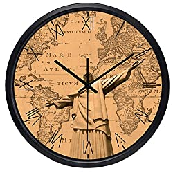 10inch Map of the Rio De Janeiro Cappuccino Hotel Lobby Wall Clock