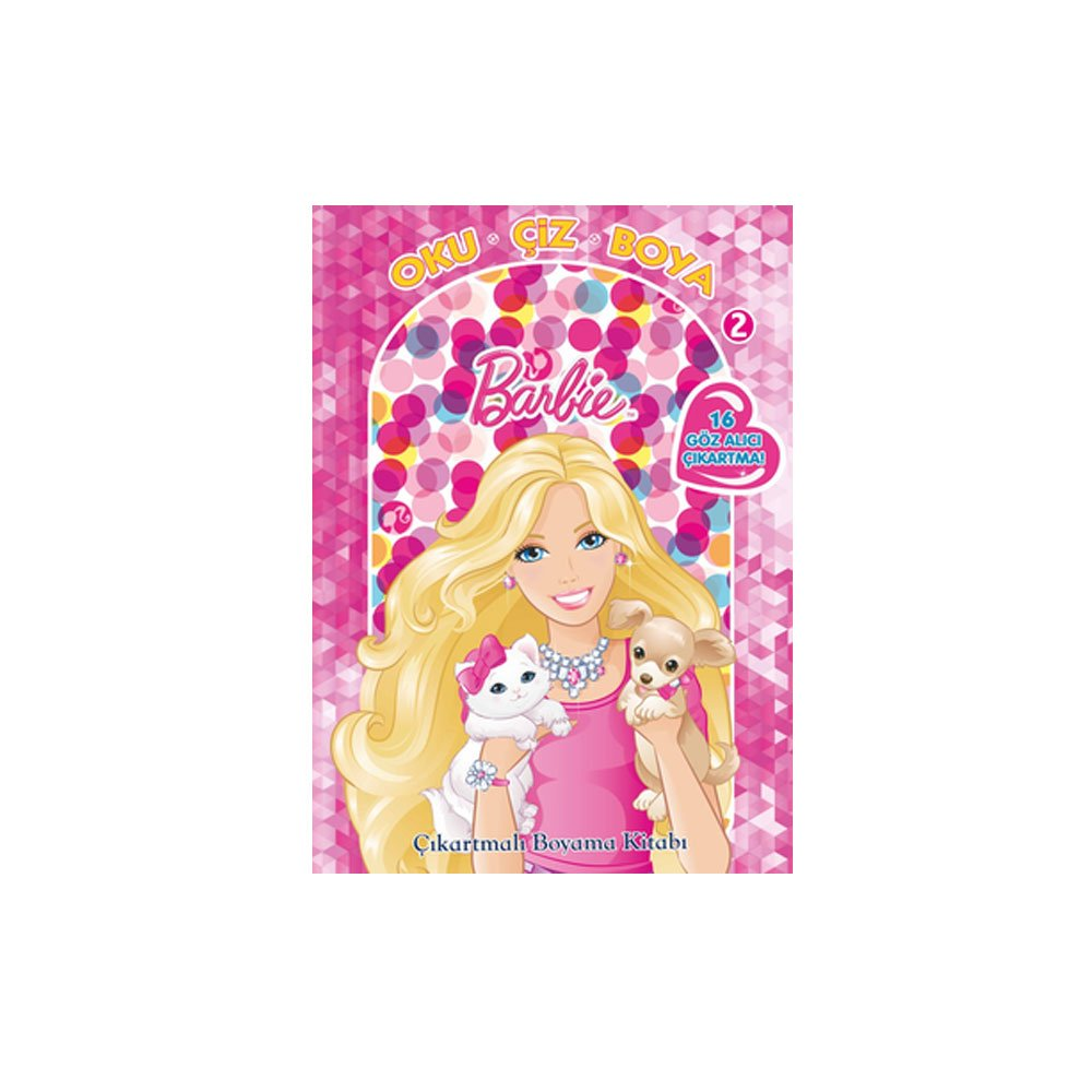 Barbie Oku çiz Boya 1 çıkartmalı Boyama Amazoncouk Kolektif