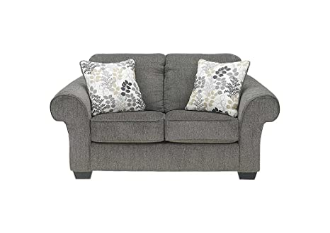 Outstanding Ashley Furniture Signature Design Makonnen Loveseat Contemporary High Nap Chenille Sofa Charcoal Short Links Chair Design For Home Short Linksinfo