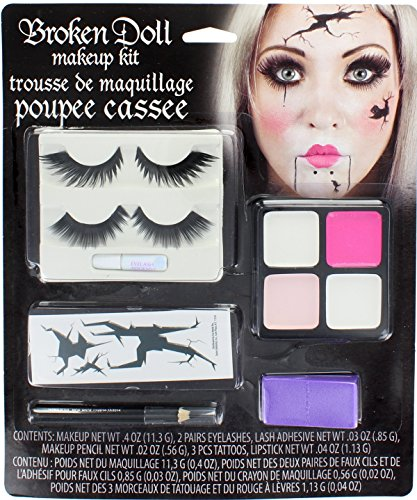 Broken Doll Makeup Kit Halloween Face Paint Fancy Dress (Makeup Halloween Costumes)