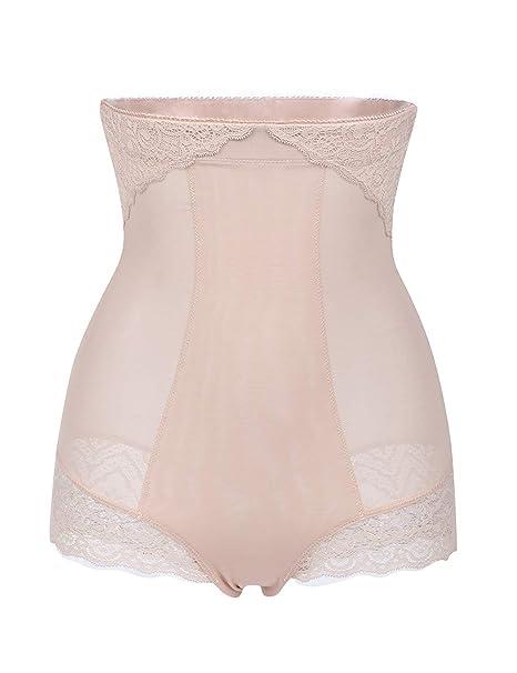0857d78bcb2 Seamless Lace Shapewear Tummy Control Shapewear Control Panty High Waist  Briefs Beige S