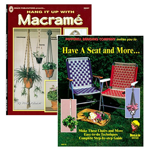 Hang it Up & Have a Seat DIY Crafting Weaving Knotting Macram Books - 1 and 2 Packs