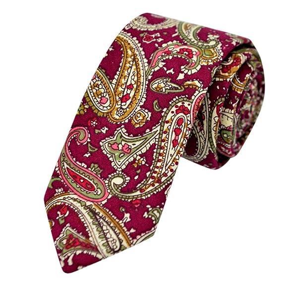 OVINEE Corbata unisex estampada corbata novio padrino de boda ...