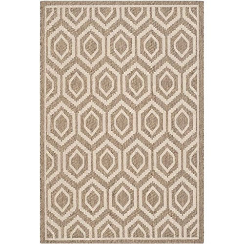 Bone 12x12 (Safavieh Courtyard Collection CY6902-242 Brown and Bone Indoor/Outdoor Area Rug (9' x 12'))