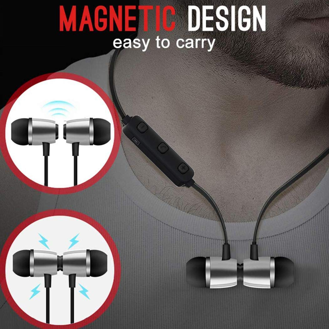 makalar Bluetooth Neckband Waterproof Sporting Earphones Stereo Wireless Earphones Earbud Headphones