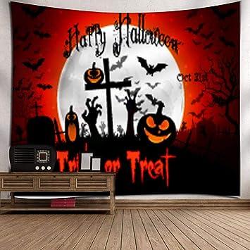 Maturegirl Halloween Moon Pumpkin Tapestry Wall Tapestry Wall Hanging Moon Pumpkin Tapestry Terror Tapestry Night Halloween