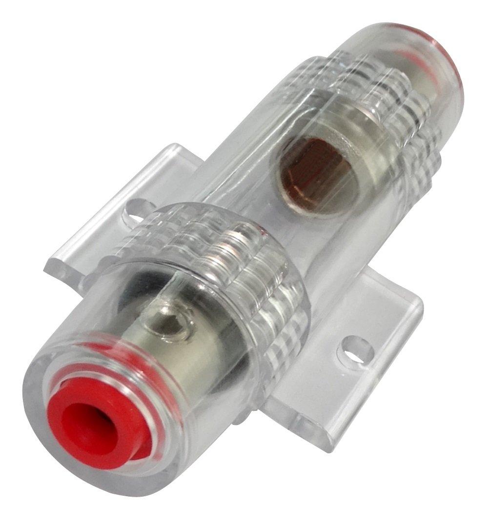 Aerzetix - Portafusibile per fusibili AGU 10A - 80A max in 20mm² max out 10mm²