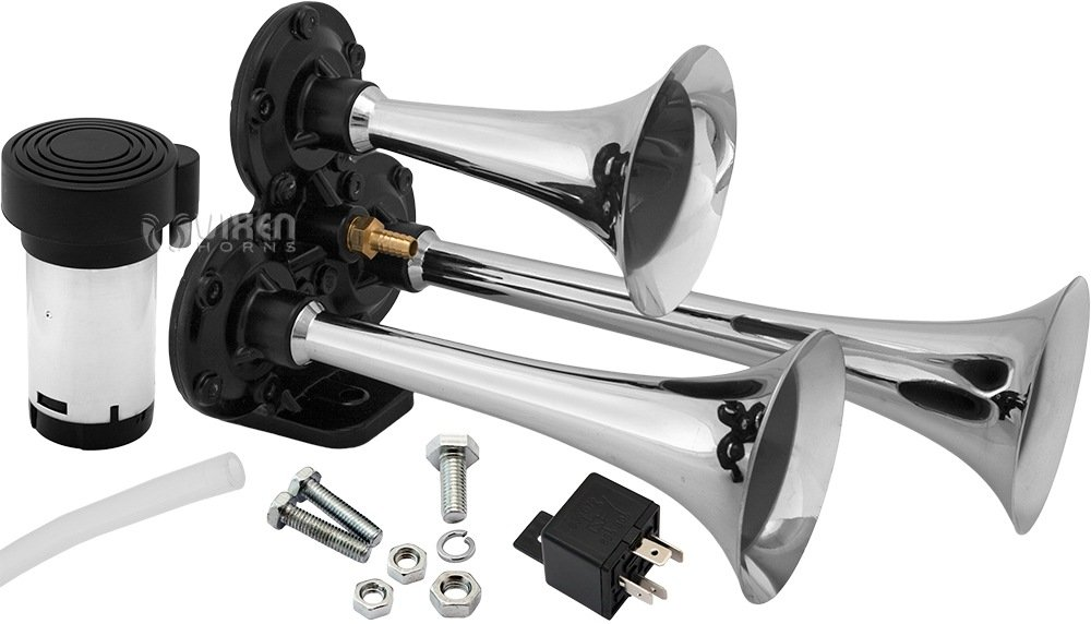 Vixen Horns VXH2411C Air Horn Kit Chrome Color