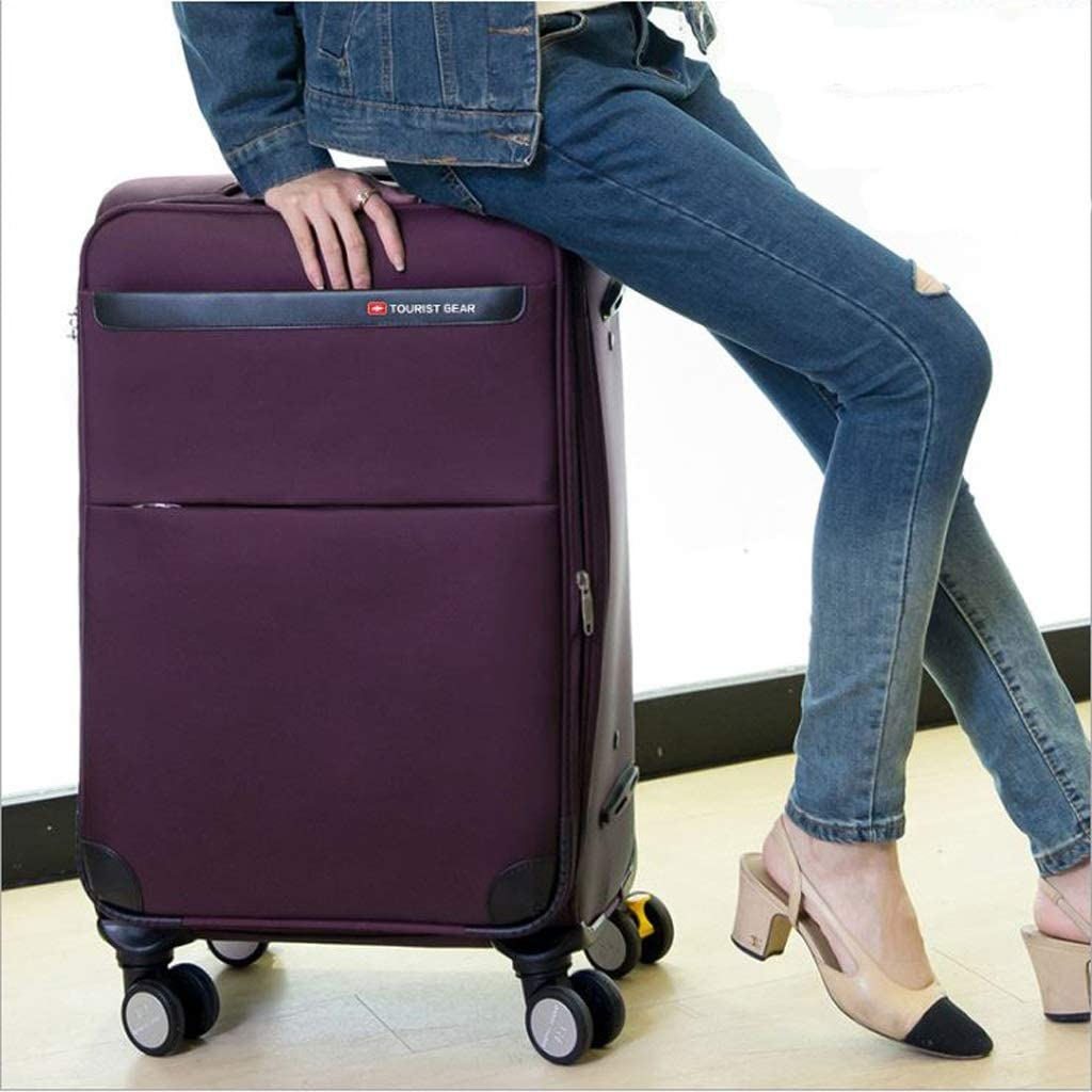 Color : Purple 28inch Minmin-lgx Luggage Lightweight Hardside 4-Wheel Spinner Luggage Set: 20 Carry-On /& 28 Checked Suitcase