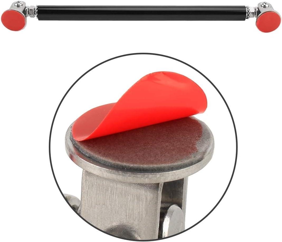 Color : Silver WSUH Modificaci/ón del coche adhesivo rodeado de Rod Lever barras delantera y trasera fija delantero del labio Volver Pala 2 PCS longitud: 15 cm