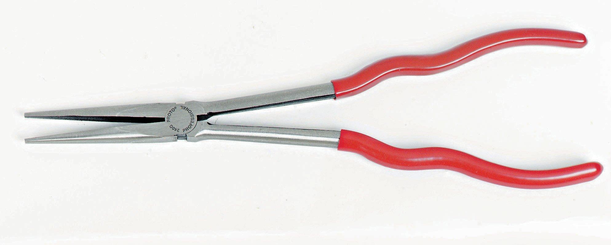 Stanley Proto J240G Proto 11-9/16-Inch Needle-Nose Pliers, Long Reach