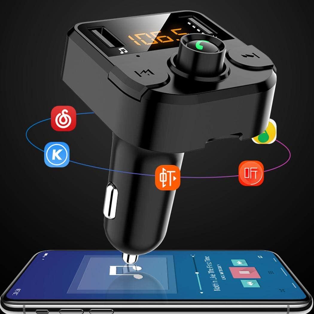 ROCONAT Coche Bluetooth inalámbrico 3.1A Cargador USB Reproductor de MP3 Manos Libres Transmisor FM Bases de Carga