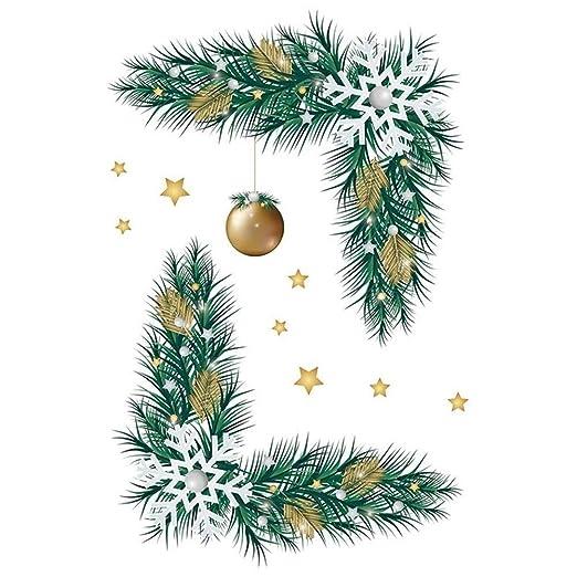 JINSEQ Ventana De Cristal De Navidad Año Nuevo De Navidad De PVC ...