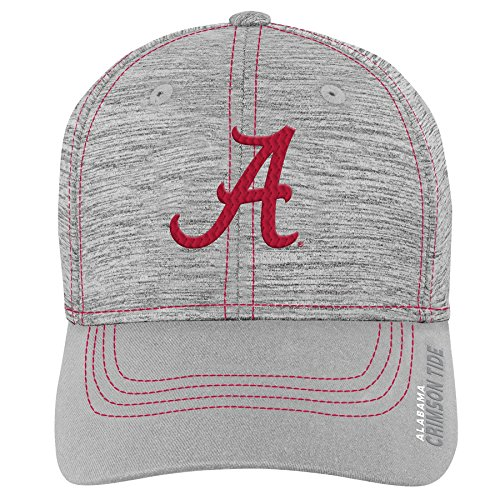 Flex Hat Structured - Gen 2 NCAA Alabama Crimson Tide Youth Boys Velocity Structured Flex Hat, Youth Boys One Size, Victory Red