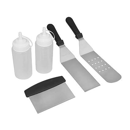 Amazon.com: Royal Gourmet TF0505 Juego de espátulas de metal ...